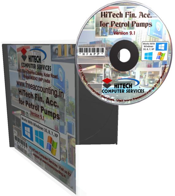 Petrol Pump Accounting Software CD Case